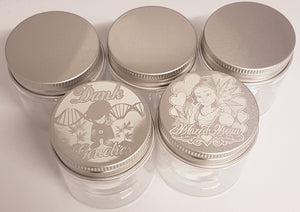 Custom 60ml Screw Top Plastic Jar - With Your Logo/Image