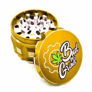 Custom Colour Print Beast Style 63mm 4 Part Herb Grinder Gold-With Your Logo