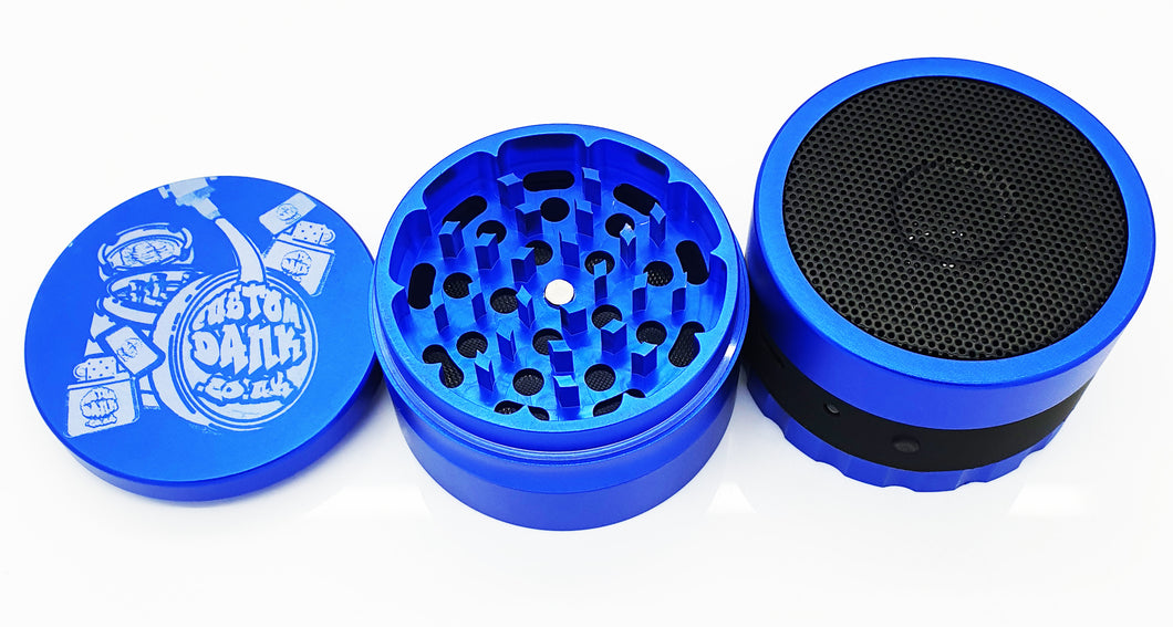 Custom 63mm Bluetooth Speaker Premium 4 Part  Herb Grinder -With Your Logo/image