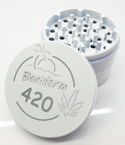 Custom 63mm White 4 Part Herb Grinder -With Your Logo/image/text