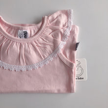 Load image into Gallery viewer, Ruffle Collar Singlet PINK (size 0 left) - Di Moda Kids