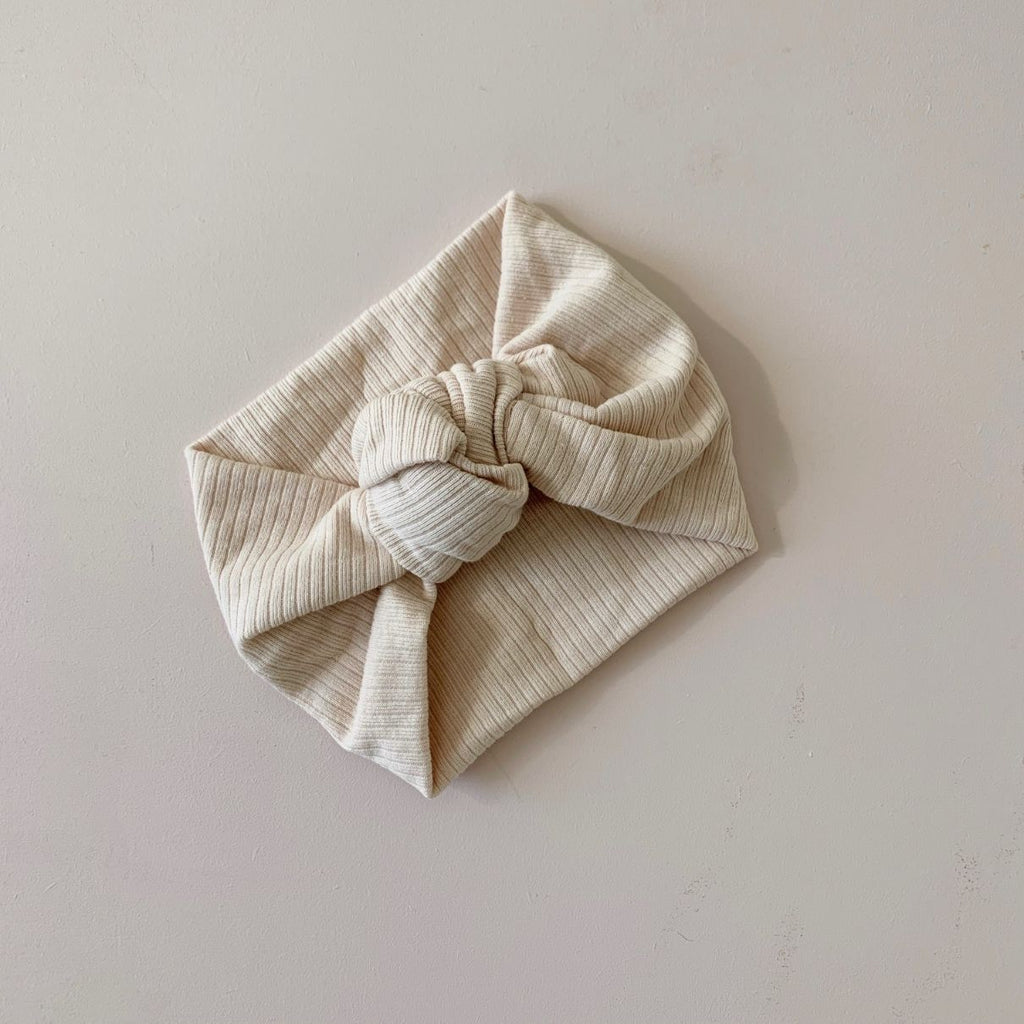 Topknot Headband - Cream - Di Moda Kids
