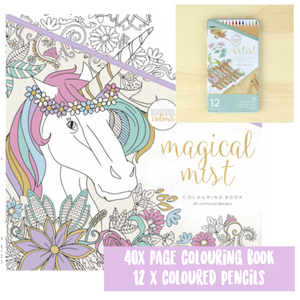 Z/ KAISER Colouring Book & Pencils - Magical Mist - Di Moda Kids