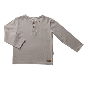 Boys Basic Henley Tee - Stone (sizes 3,6,8 yrs left) - Di Moda Kids