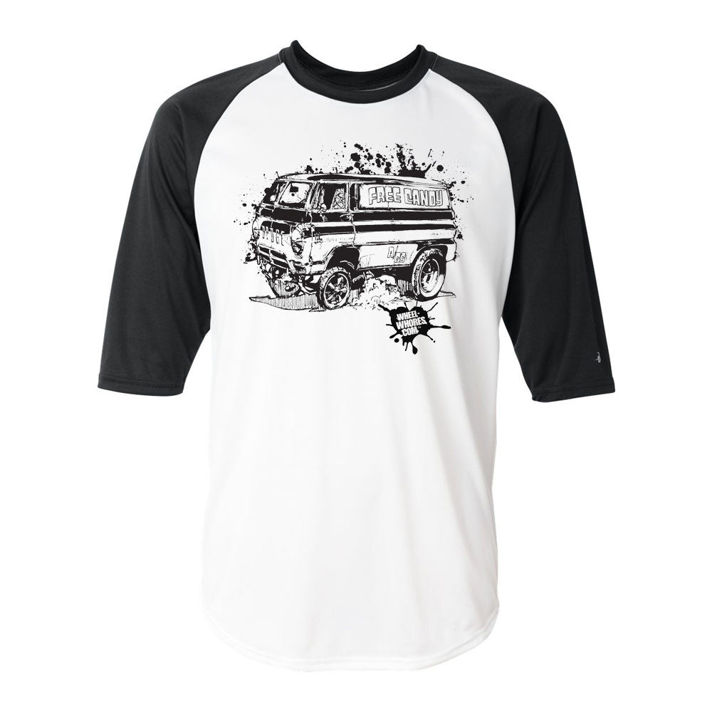 Free Candy Van Baseball Shirt (Black/White)