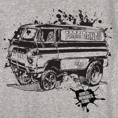 Free Candy Van T-Shirt (Grey)