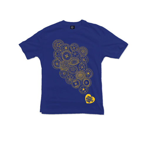 Whores Hoards (Kids T-shirt) Navy/Yellow