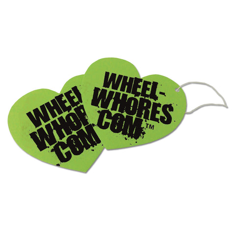 Limited Edition Lime Green Heart Air Freshener Pack