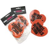 Orange Sticker & Air Freshener Combo Pack