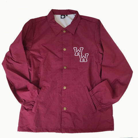 WW COACH JACKET (BURGUNDY)