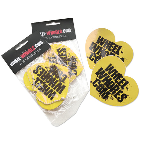Yellow Sticker & Air Freshener Combo Pack