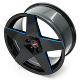 Borbet // A Neu Gloss black/blue lip (Price per wheel)