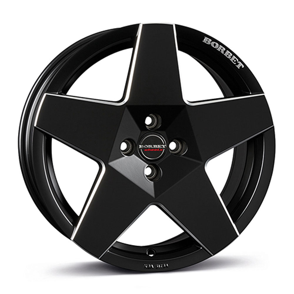 Borbet // A Neu Matte black/silver lip (Price per wheel)