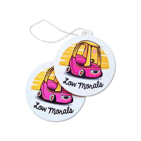 Low Morals Sticker & Air Freshener Combo Pack