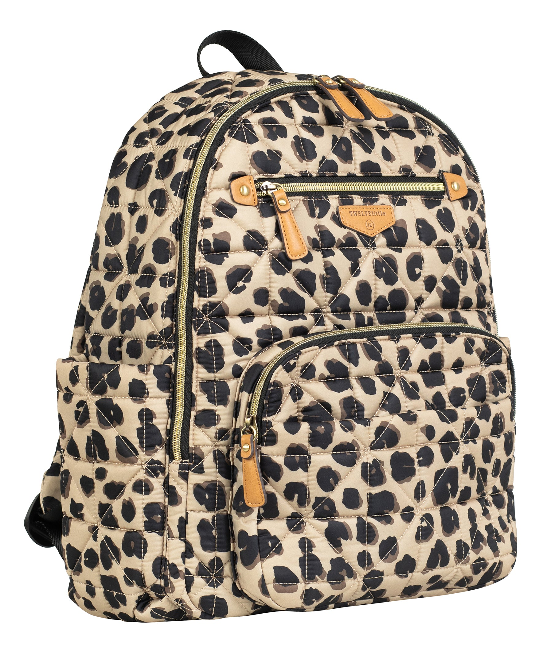 Side view of leopard companion backpack