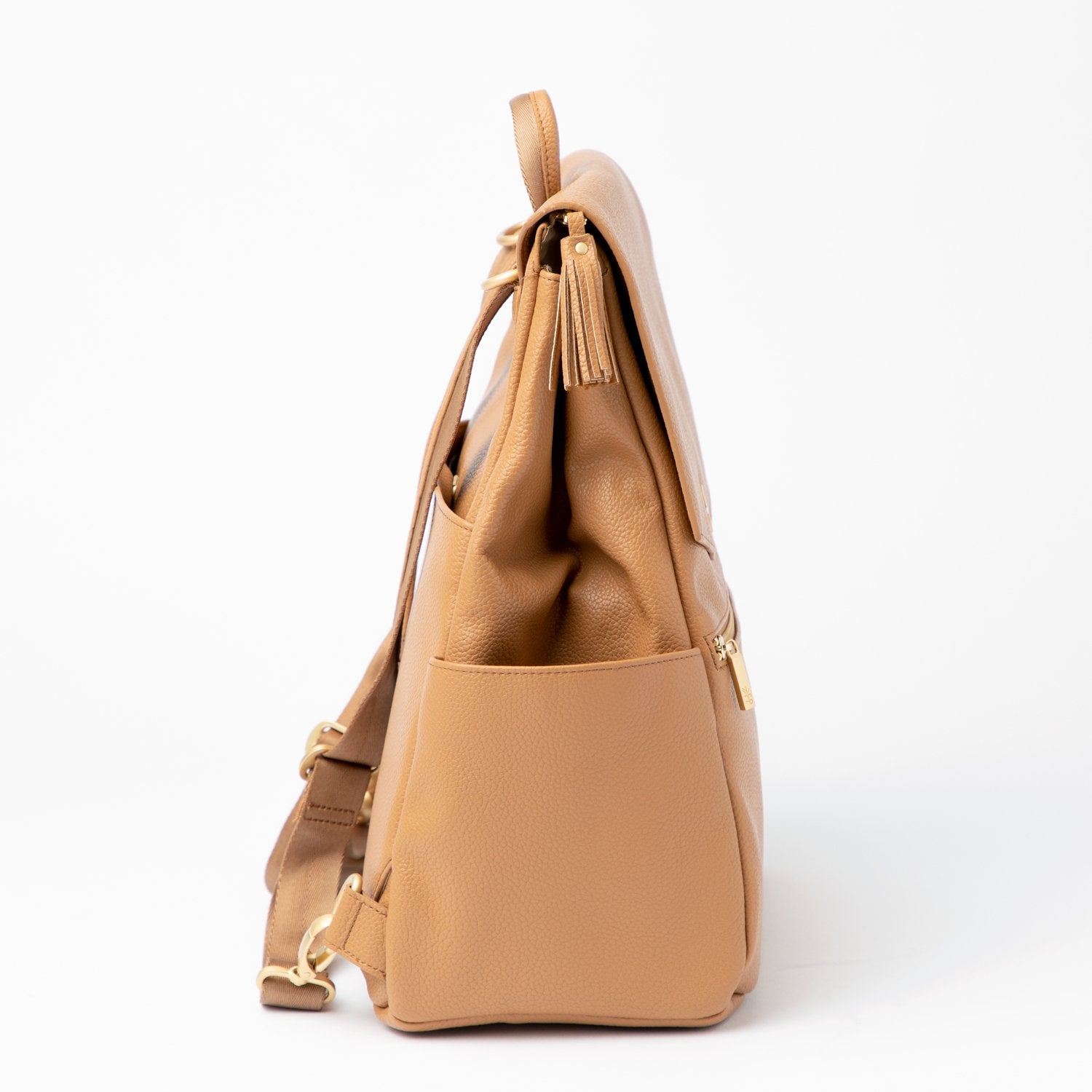 Side profile of Butterscotch diaper bag