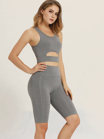 2020 New Solid Color Yoga Suit