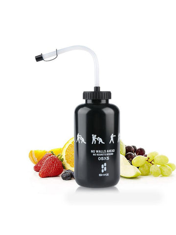 Boxing kettle sports training water bottle squeeze type leak-proof cup with straw