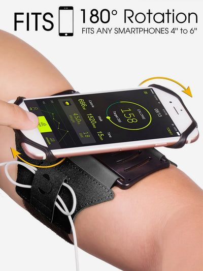 Rotatable Universal Phone Armband for Hiking Biking Walking