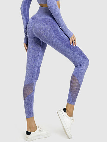 Curved Jacquard Hollow Seamless Suit