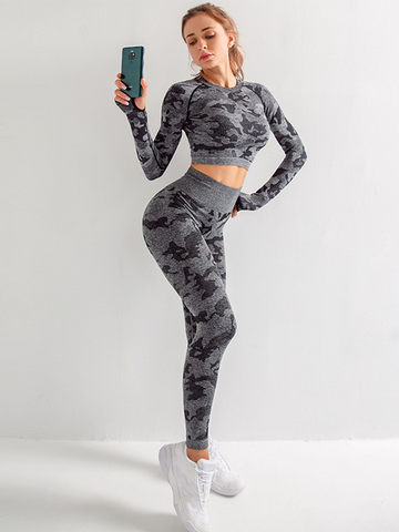 Seamless Camouflage Sports Set
