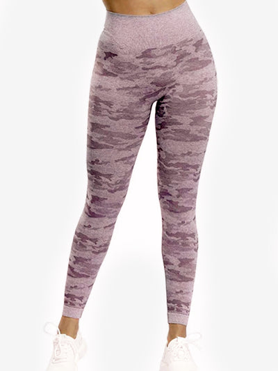 Camo Print Seamless Leggings