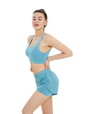 2020 New Solid Color Breathable Yoga Suit