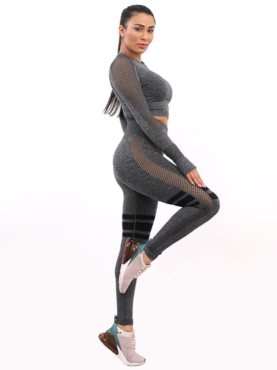 Seamless Stretch Set - Dark Gray