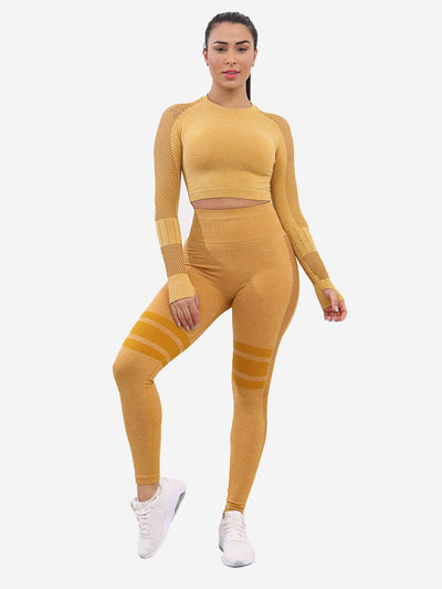 Seamless Stretch Set - Yellow