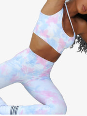 2020 Summer Tie-Dyed Tops Leggings Yoga Sets