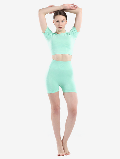 Summer Breathable Seamless Yoga Set