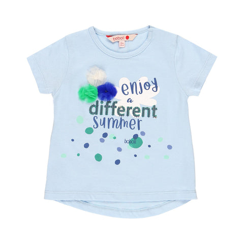 Boboli été 2020 - Blue and Green Tshirt