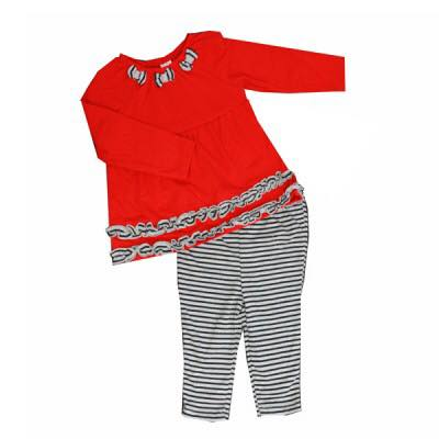 Baby Mode Fall - Two Pieces Set Bows N Stripe