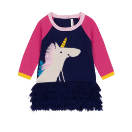 Deux par Deux Fall 2019 - Unicorn & Rainbows Sweater Dress