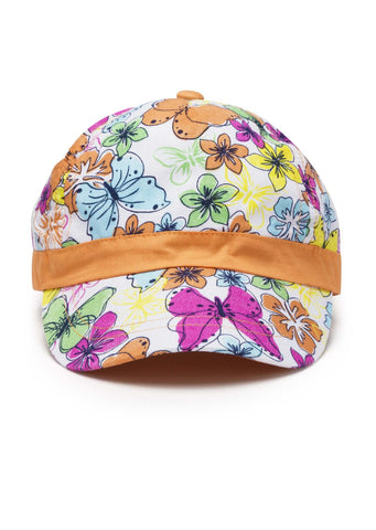 Losan Summer 2019 - Tropical Colors Flower and Butterfly Print Cap