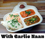 Feast w/Garlic Naan {Pick and 2 Mains + Garlic Naan + Dessert + Rice}