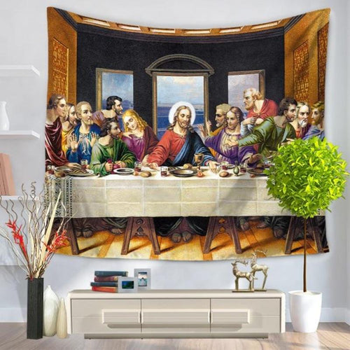 Oil Painting Last Supper Blanket