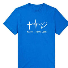 Load image into Gallery viewer, Faith Hope Love Christian T-shirt