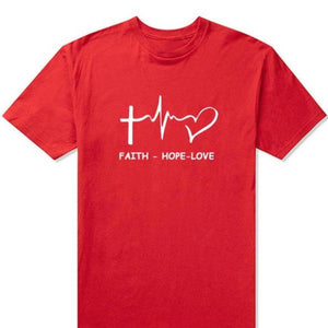 Faith Hope Love Christian T-shirt