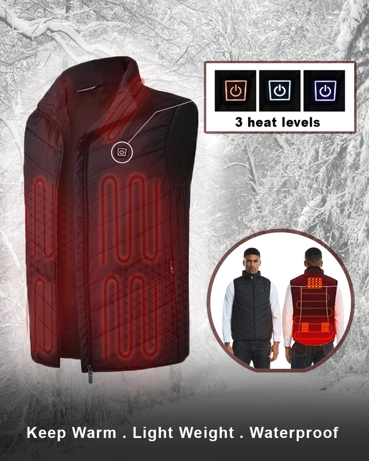 The Premium Rechargeable Heated Vest (Free Shipping)