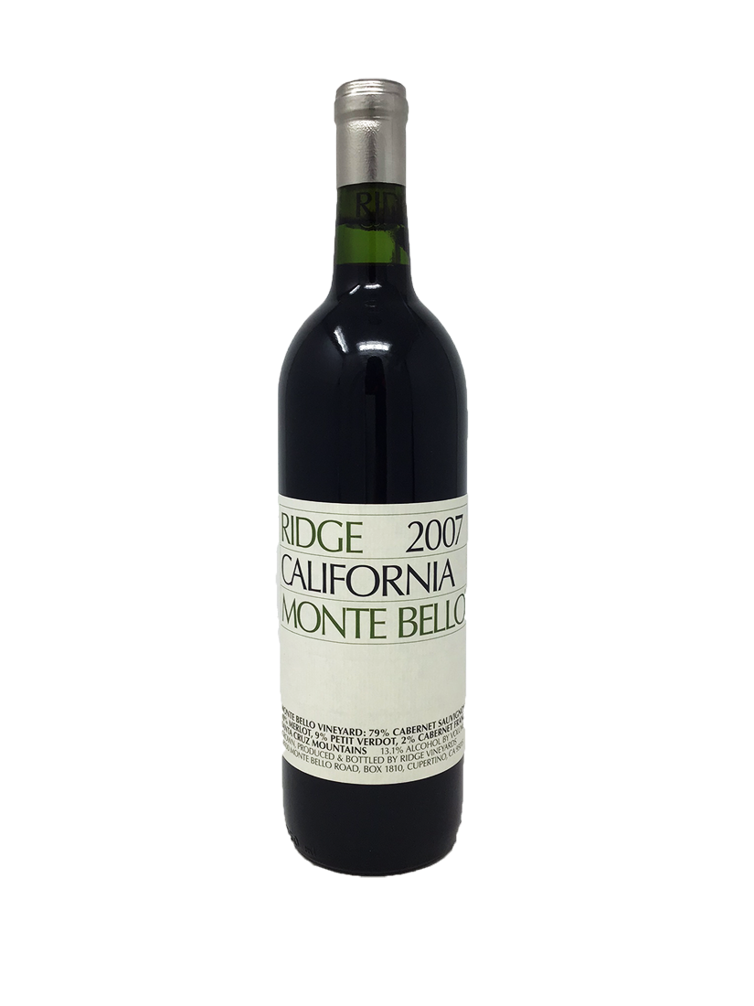 Ridge Monte Bello Cabernet and Blends 2007