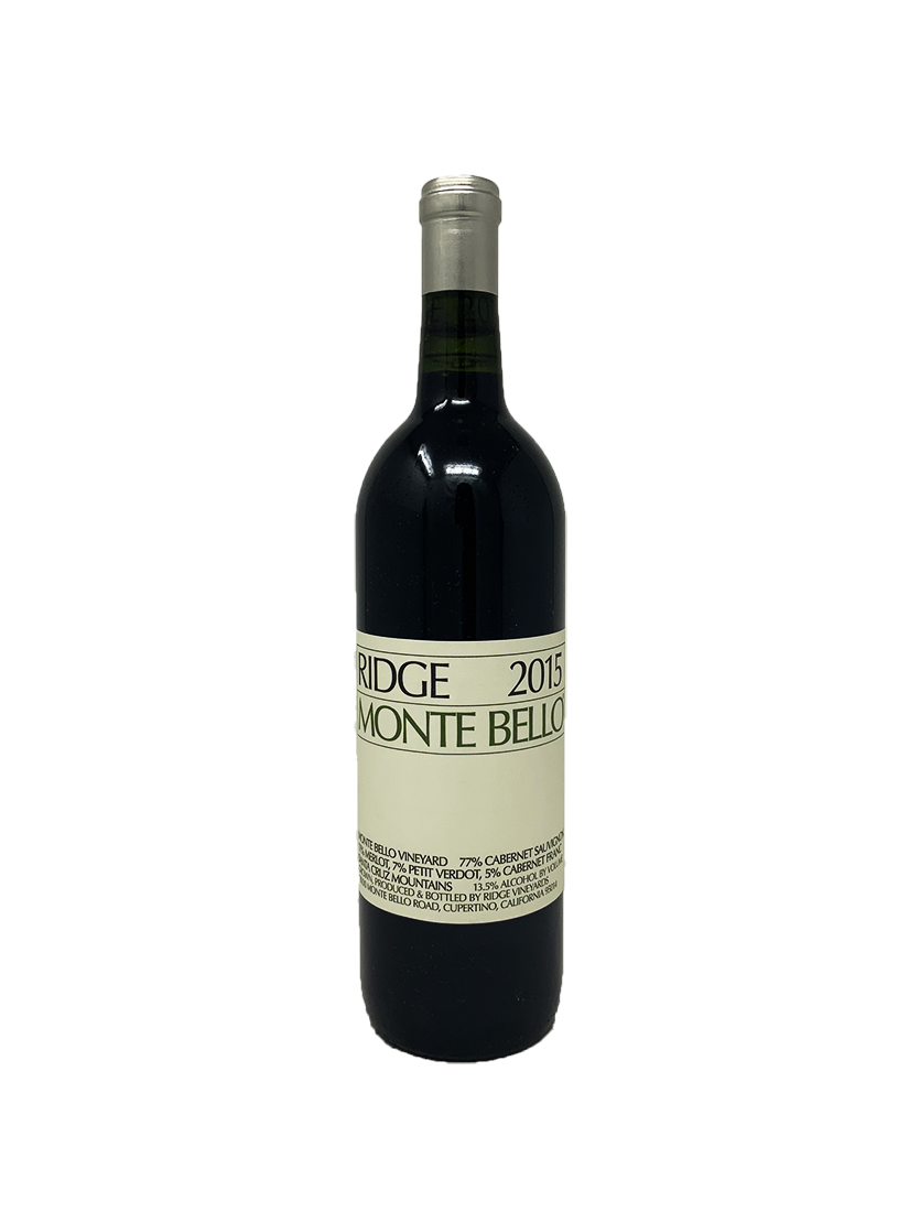 Ridge Monte Bello Cabernet and Blends 2015