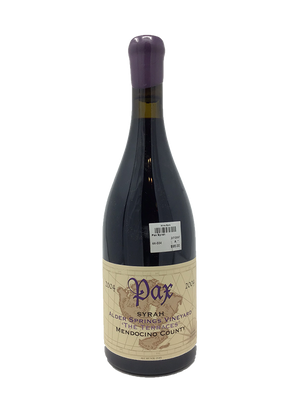 Pax Syrah Alder Springs The Terraces CA Rhone Rangers 2004