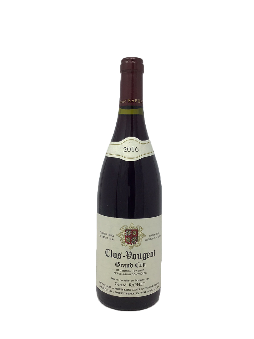 Domaine Gerard Raphet, Clos de Vougeot, Grand Cru Burgundy Red 2016
