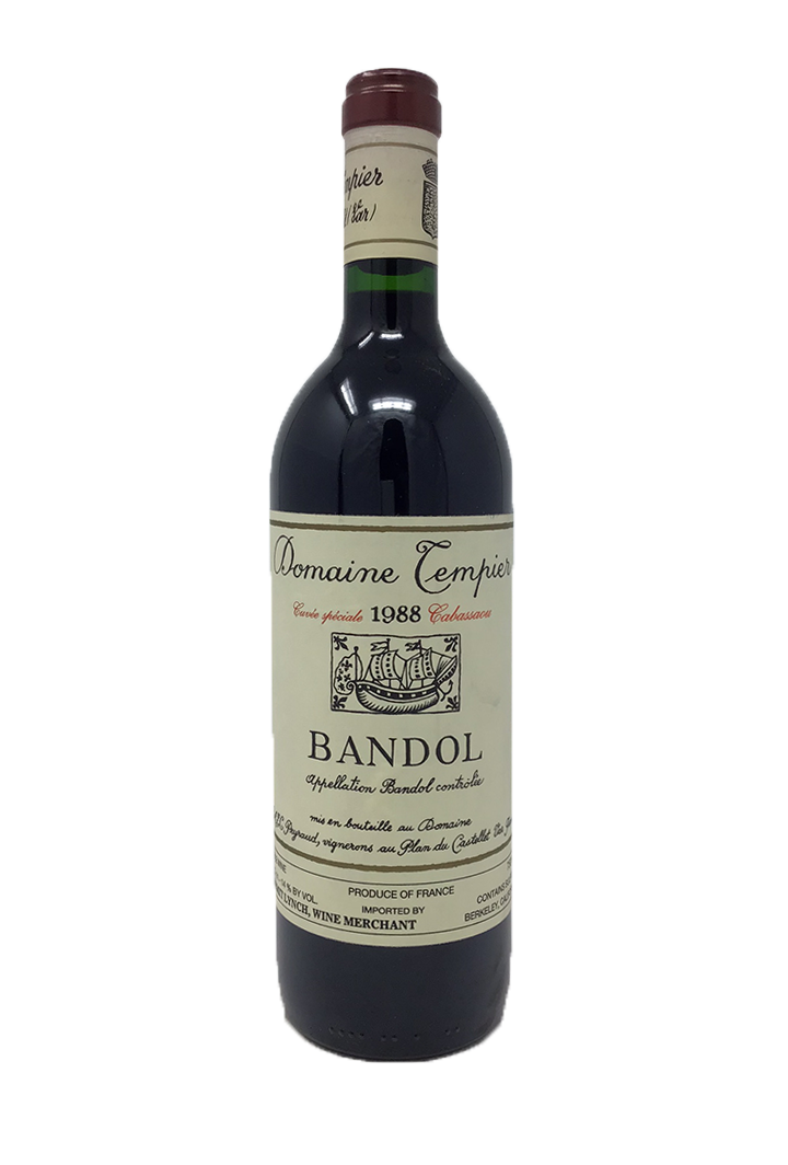 Domaine Tempier Bandol Cabassaou Southern France 1988