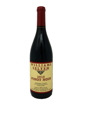 Williams Selyem Sonoma Coast Pinot Noir 2018