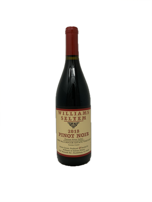 Williams Selyem Lewis MacGregor Estate Vineyard Pinot Noir 2018