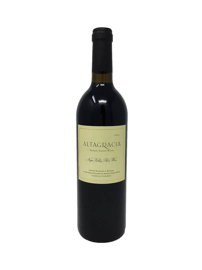 Araujo Estate Altagracia Cabernet and Blends 2003