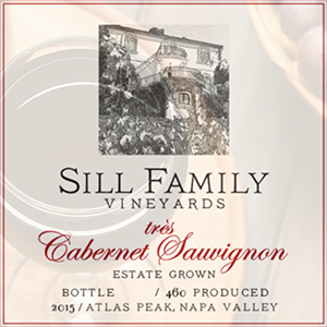 Sill Family Vineyards, très Cabernet Sauvignon, Atlas Peak 2015