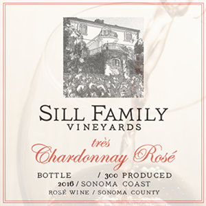 Sill Family Vineyards, très Rosé de Chardonnay, Sonoma Coast 2016